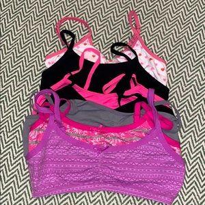 7 girls training bras size small